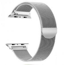 Металлический ремешок для Apple Watch 42/44 mm с магнитной застежкой Silver