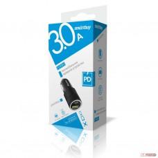 Автомобильный USB адаптор SmartBuy TURBO 2.4 А (1 USB + 1 USB Type C)