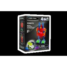 Конструктор Laser Pegs Роботы в футляре 4 в 1
