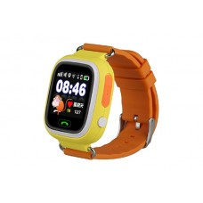 Детские смарт часы Smart Baby Watch Q90 с GPS трекером Orange