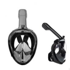 Маска для снорклинга с креплением под GoPro S/M Black