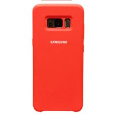 Чехол накладка Samsung Silicone Cover для Samsung Galaxy S8 Plus Red