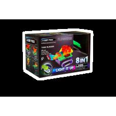 Конструктор Laser Pegs Танк с цветными деталями 8 в 1