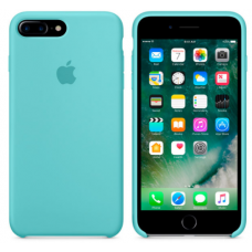 Чехол накладка Silicone Case для Apple iPhone 7 Plus/8 Plus Sea Blue