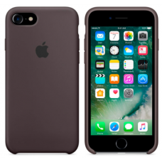 Чехол накладка Silicone Case для Apple iPhone 7/8 Cocoa