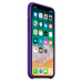 Чехол накладка Silicone Case для Apple iPhone X Violet