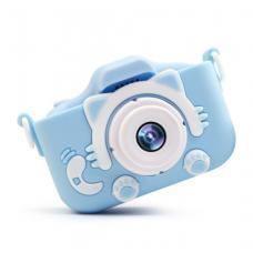 Детский фотоаппарат со встроенной селфи камерой Blue