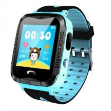 Детские смарт часы V6G с GPS трекером Blue-Black