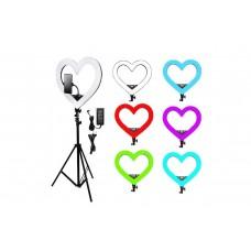 """Кольцевая лампа """"Сердце"""" 49 см RGB + штатив 210 см + держатель для телефона"""