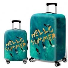 """Чехол для чемодана размер S (18""""-21"""") Hello Summer"""