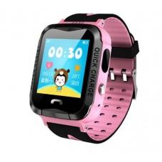 Детские смарт часы V6G с GPS трекером Rose-Black